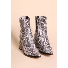 """""""INTENTIONALLY __________."""" Lima Boots - Off White Python 1ACVVRLR"""