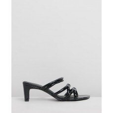"""""""INTENTIONALLY __________."""" Willow II Sandals - Black Patent PMTRPZ9T"""