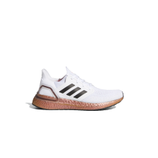 adidas Ultraboost 20 Sneaker - White/Signal Pink In Wide Width Discount L6Y7NFLX