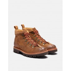 Men's Grenson Bobby Hiker Boot in Burnished Suede - Snuff Brown I1JWWI09