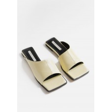 Another Asymmetric Panel Sandal - Yellow For Work online boutique 82VDMP70