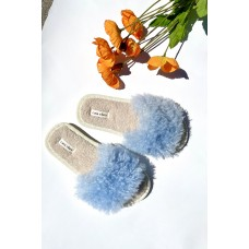 CASA CLARA LOLA SLIPPERS - periwinkle/white Large Sizes for sale 4TY9M8L4