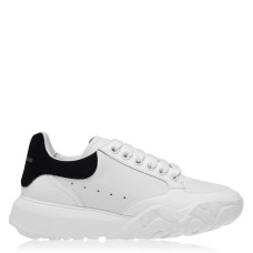 ALEXANDER MCQUEEN Oversized Court Trainers Fit White/Blk 9061 270047