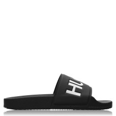 HUGO Womens Shoes Time Out Sliders Blk/Wht 002 SMU 223070