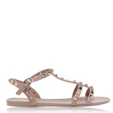VALENTINO Women's Rockstud Jelly Sandals Poudre P45 shopping 231027