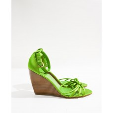 Pre-loved Coach Strappy Knotted Wedges - green Size 13 new in 21677X68