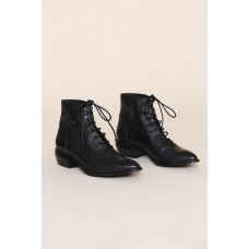 """Womens """"INTENTIONALLY __________."""" West Boot - Black rental LN2AG6H7"""